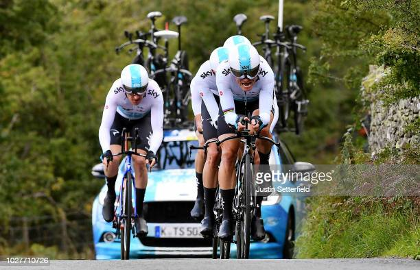 Vasil Kiryienka of Belarus and Team Sky / during the 15th Tour of Britain 2018, Stage 5 a 14km Team Time Trial from Cockermouth to Keswick -...