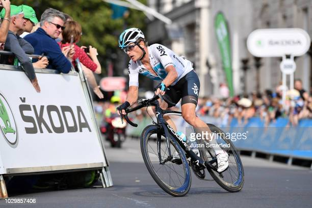 Vasil Kiryienka of Belarus and Team Sky / during the 15th Tour of Britain 2018, Stage 8 a 77km stage from London to London / OVO Energy / TOB / on...