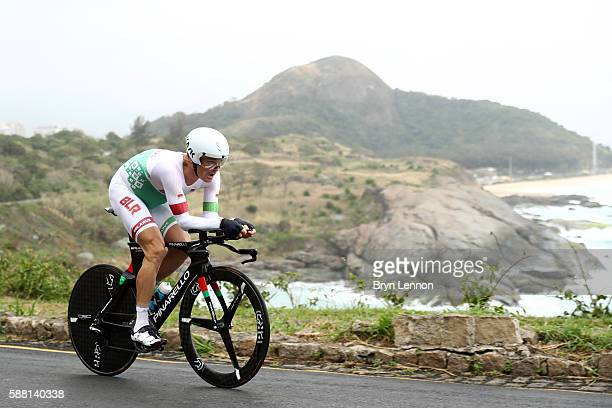 Vasil Kiryienka of Belarus competes in the Cycling Road Men's Individual Time Trial on Day 5 of the Rio 2016 Olympic Games at Pontal on August 10,...