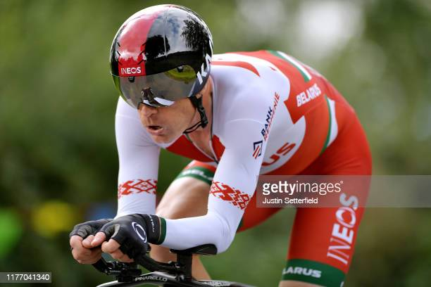 Vasil Kiryienka of Belarus / during the 92nd UCI Road World Championships 2019, Individual Time Trial Men Elite a 54km race from Northhallerton to...