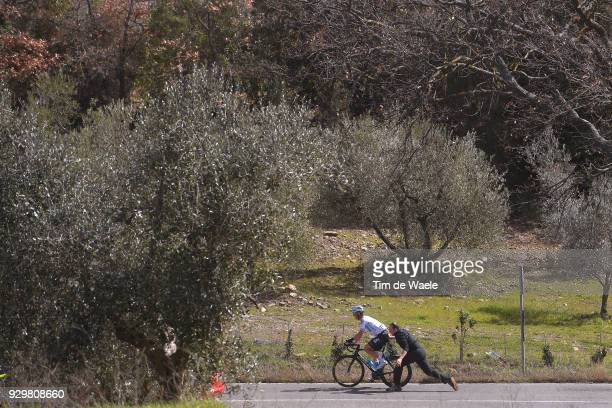 Vasil Kiryienka of Belarus / Mechanical Problem / during the 53rd TirrenoAdriatico 2018 Stage 3 a 239km stage from Follonica to Trevi 425m on March 9...