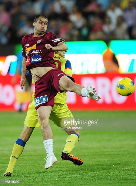 Vasile Maftei of CFR 1907 Cluj in action during the Romanian Liga 1 match between CFR 1907 Cluj and FC Steaua Bucuresti held on May 20 2012 at the Dr...