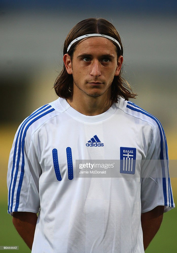 Vasileios Koutsianikoulis of Greece looks on during the UEFA U21 Championship match between Greece and England at the Asteras Tripolis Stadium on September 8, 2009 in Tripolis, Greece.