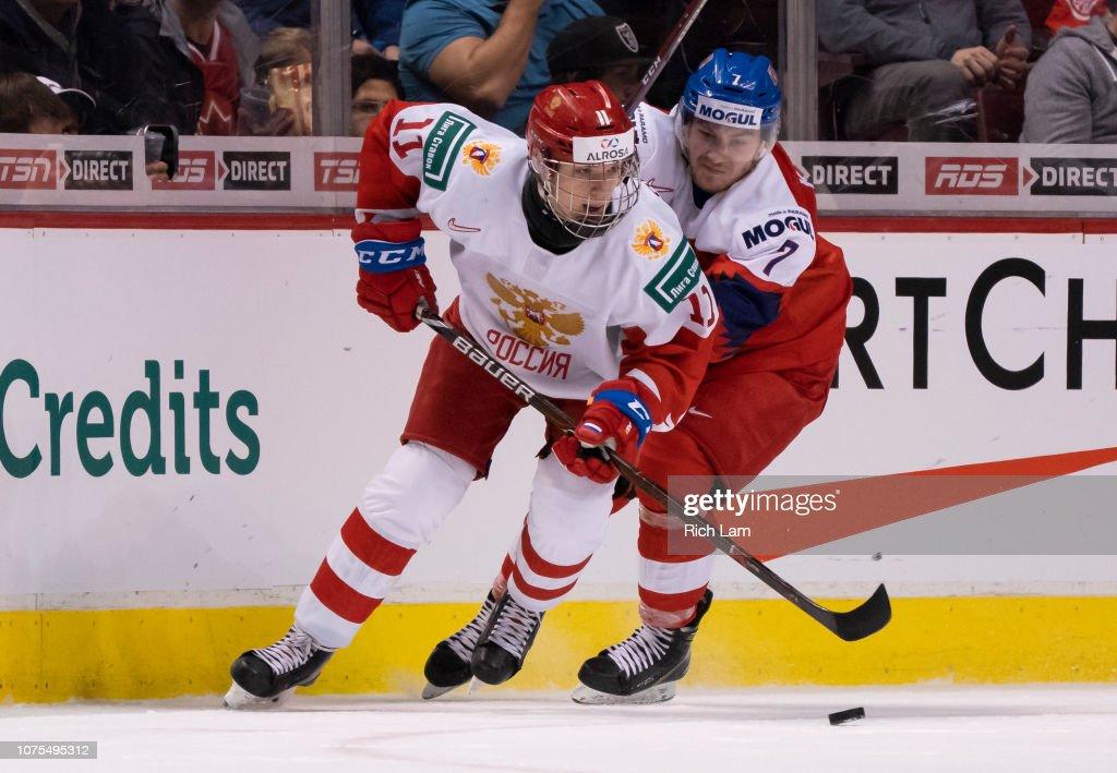 Czech Republic v Russia - 2019 IIHF World Junior Championship : News Photo