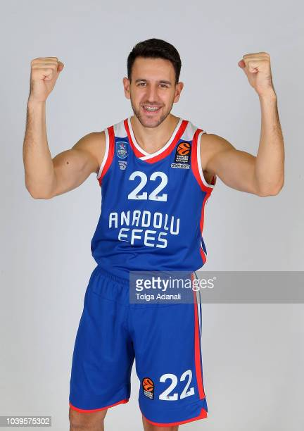 Vasilije Micic #22 of Anadolu Efes Istanbul poses during the Anadolu Efes Istanbul 2018/2019 Turkish Airlines EuroLeague Media Day at Sinan Erdem...