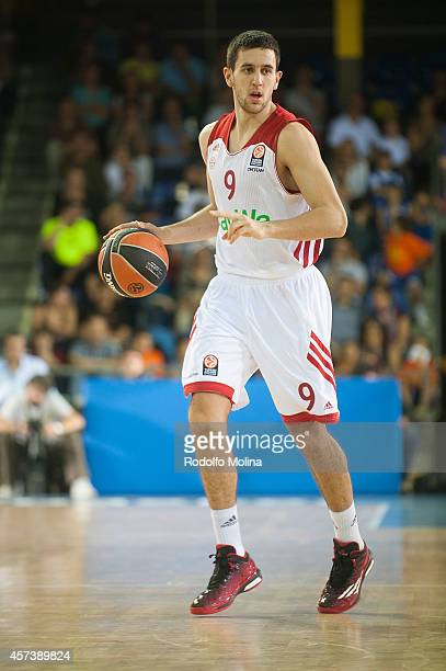 Vasilije Micic of FC Bayern Munich in action during the 20142015 Turkish Airlines Euroleague Basketball Regular Season Date 1 between FC Barcelona v...