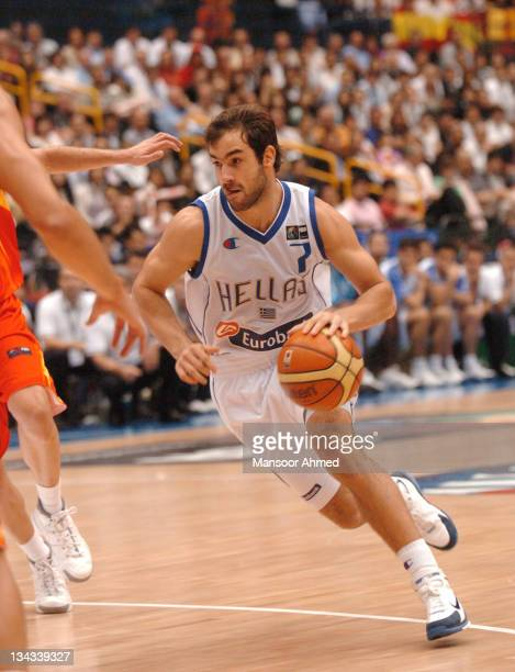 Vasilis Spanoulis of Greece in action during the FIBA World Championship 2006 Final between Spain and Greece at the Saitama Super Arena, Tokyo,...