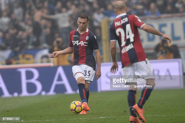 Vasilis Torosidis of Bologna FC in action during the Serie A match between Bologna FC and UC Sampdoria at Stadio Renato Dall'Ara on November 25 2017...