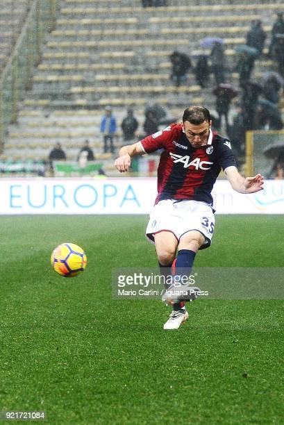 Vasilis Torosidis of Bologna FC in action during the serie A match between Bologna FC and US Sassuolo at Stadio Renato Dall'Ara on February 18 2018...