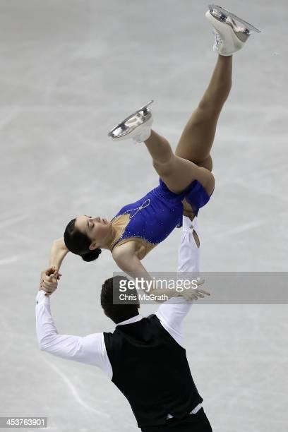 Vasilisa Davankova and Andrei Deputat of Russia compete in the Junior Pairs Short Program during day one of the ISU Grand Prix of Figure Skating...