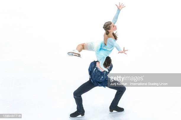 Vasilisa Kaganovskaia and Valeriy Angelopol of Russia perform during the ISU Junior Grand Prix of Figure Skating at Tivoli Hall on September 25, 2021...