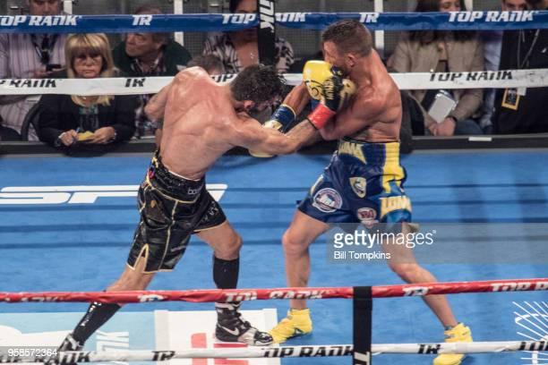 Vasiliy Lomachenko defeats Jorge Linares by technical knockout in the 10th Round at Madison Square Garden NYC on May 12 2018 in New York City