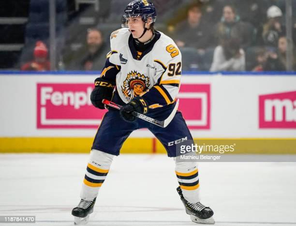 Vasily Ponomarev of the Shawinigan Cataractes skates during his QMJHL hockey game at the Videotron Center on October 26, 2019 in Quebec City, Quebec,...