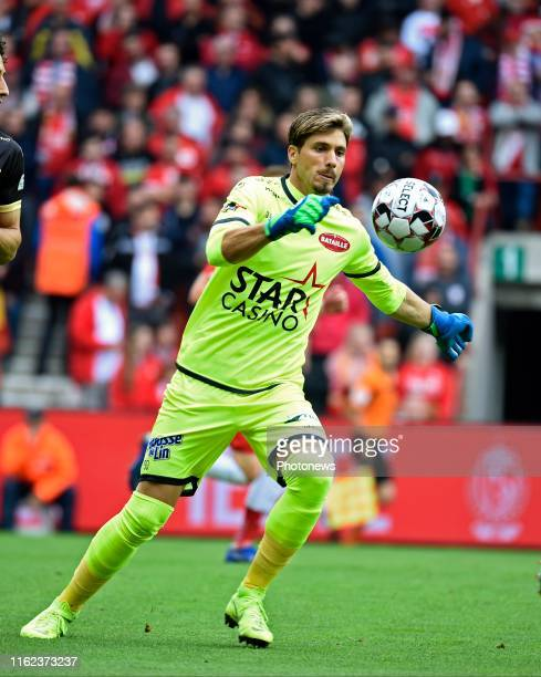 Vaso Vasic goalkeeper of Mouscron pictured during the Jupiler Pro League match between Standard de Liege and Royal Excelsior Mouscron on August 18...