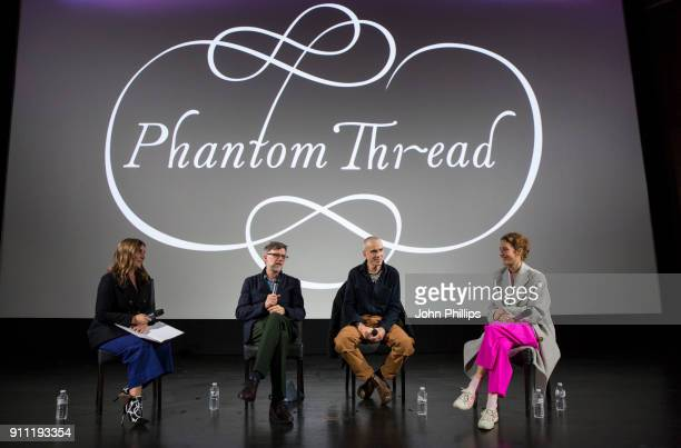 Vassi Chamberlain Features Director at PORTER magazine Director Paul Thomas Anderson Daniel DayLewis and Vicky Krieps attend an exclusive screening...