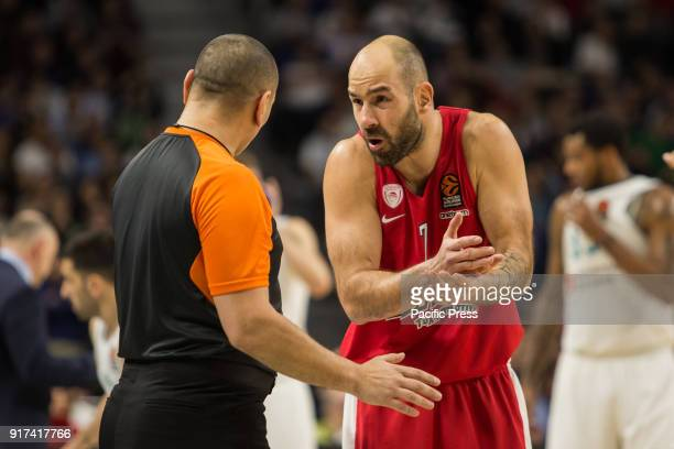 Vassilis Spanoulis during Olympiakos Piraeus victory over Real Madrid in Turkish Airlines Euroleague regular season game celebrated at Wizink Center