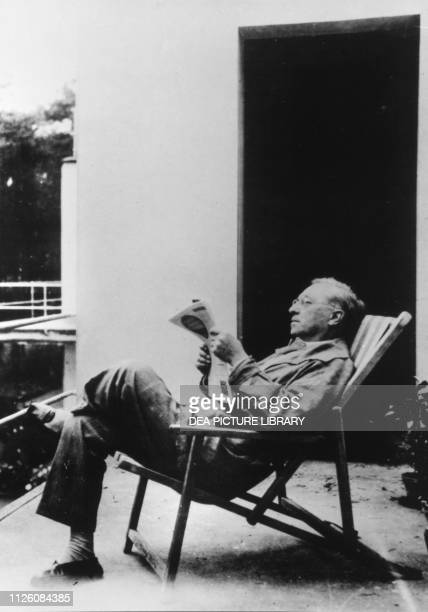 Vassily Kandinsky , Russian painter and art theorist, photograph Dessau, Germany.
