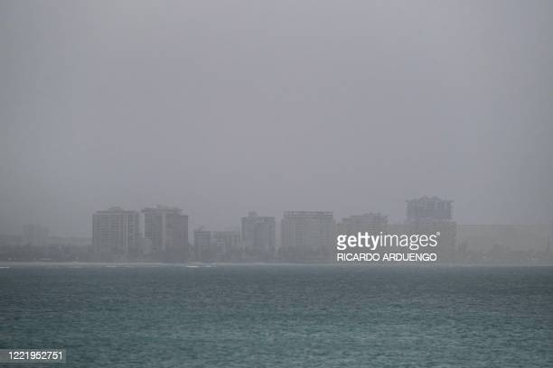 A vast cloud of Sahara dust is blanketing the city of San Juan Puerto Rico on June 22 2020 An expansive plume of dust from the Sahara is traveling...