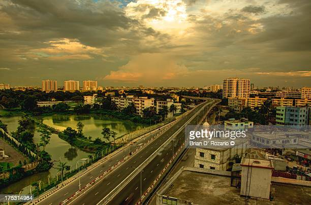 vast expanse of my city - dhaka stock pictures, royalty-free photos & images