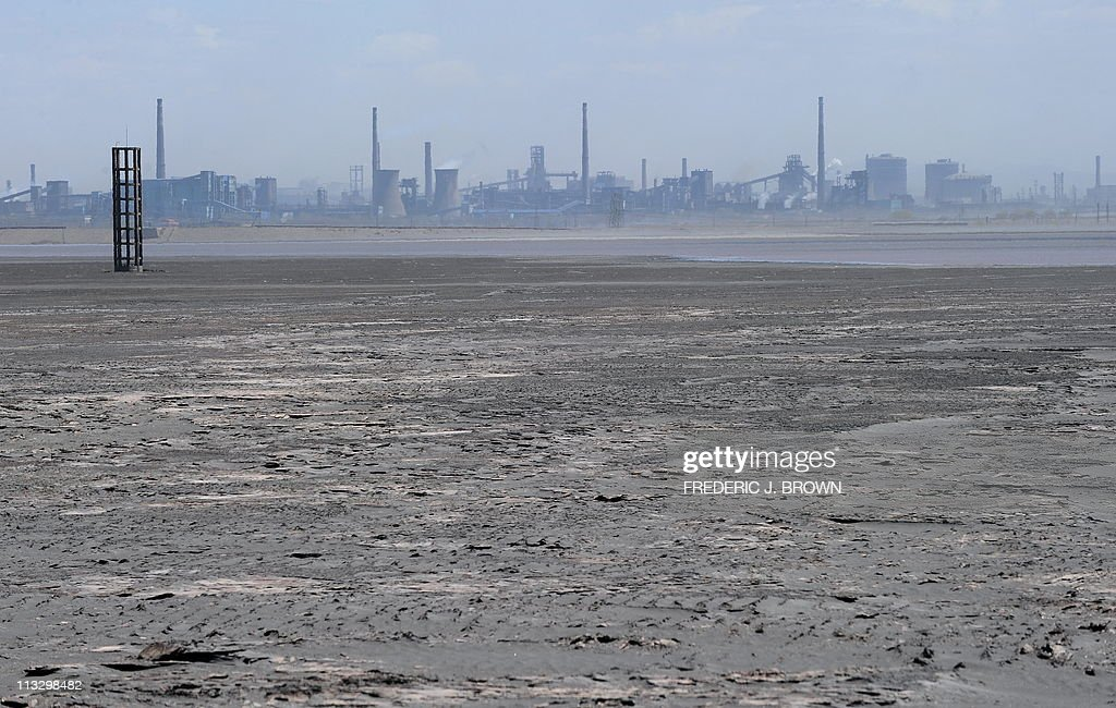 A vast expanse of toxic waste fills the : News Photo