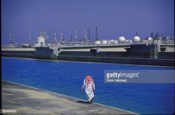 Vast oil refinery complex in 10 yr old industrial city Jubail on Arabian Gulf