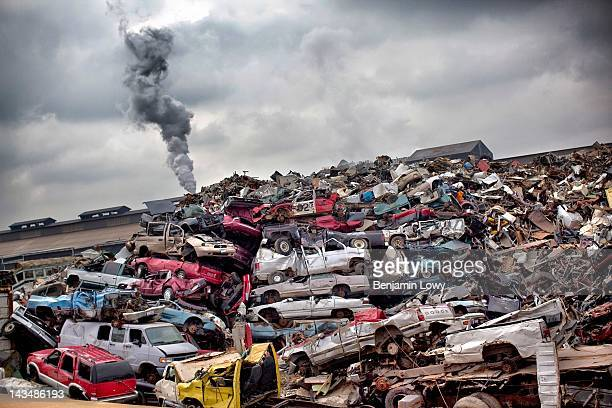 Vast scrapyard dominates the landscape in a spot that was once one of the busiest steel mills along the famous American Rust Belt on February 7, 2012...