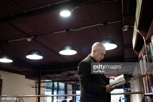 Vasyl Salyak at his workplace in Kiev Ukraine on February 2018 Vasyl Salyak is a refugee from DNR Previously he was a principal in Debaltseve School...