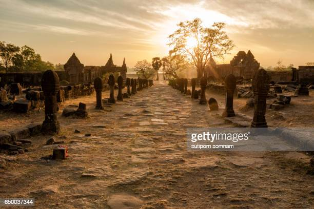Vat Phou Champasak Sunrise morning time.