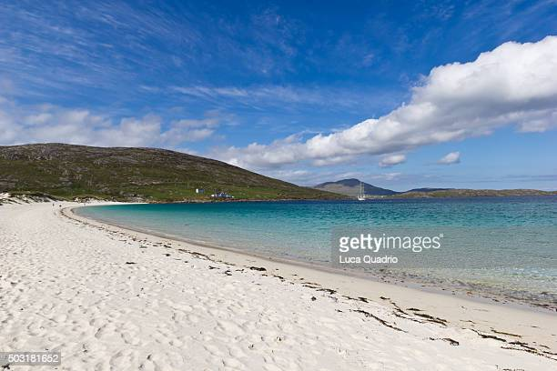 vatersay beach - barra scotland stock pictures, royalty-free photos & images
