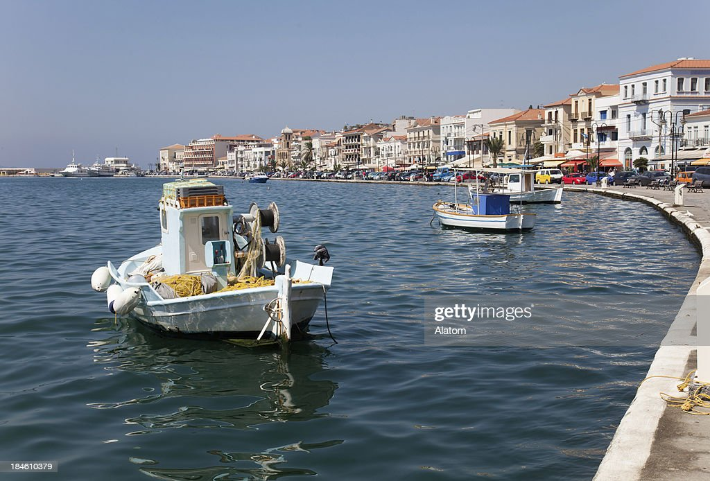 Vathy on Samos : Stock Photo