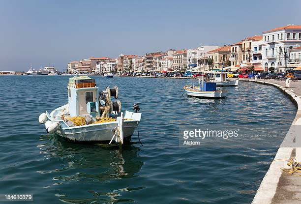 vathy on samos - samos stock photos and pictures