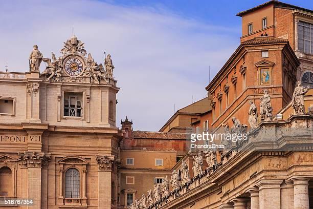 città del vaticano-cappella sistina, illuminazione esterna con vista - cappella sistina foto e immagini stock