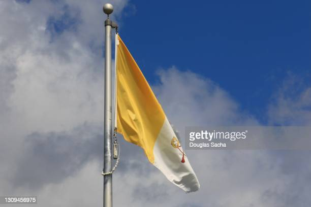 vatican city flag - pope stock pictures, royalty-free photos & images