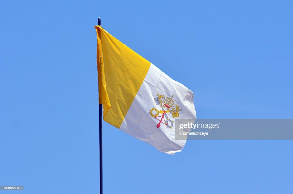 Vatican City Flag : Stock Photo