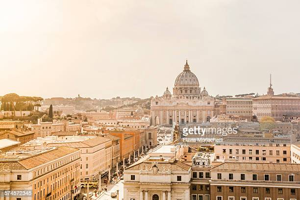 Vatican City skyline with Saint Peter's Basilica