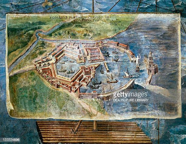 Vatican City State Vatican Palace Geographical Maps Gallery Ignazio Danti Ancient Port of Fiumicino fresco