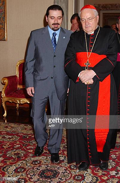 In this picture made available by the Vatican newspaper L'Osservatore Romano Vatican Seceretary of State Angelo Sodano meets at the Vatican 19 July...