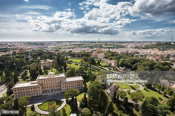 CONTENT] Vatican Gardens and panorama of Rome