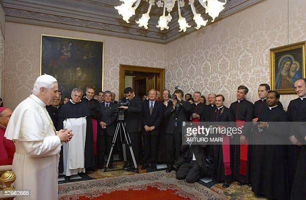 Pope Benedict XVI visits the Vatican Congregation for the Doctrine of the Faith 20 April 2005 in the Vatican City Newly elected Pope Benedict XVI...