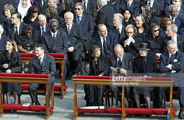 Rania and King Abdullah II of Jordan King Juan Carlos and Queen Sofia of Spain Queen Margrethe II and Prince Henrik of Denmak President John Kufuor...