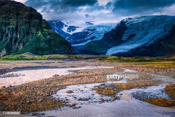 vatnajokull alluvial plains, iceland. - バトナ氷河 ストックフォトと画像