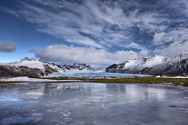 Vatnajokull glacial landscape.