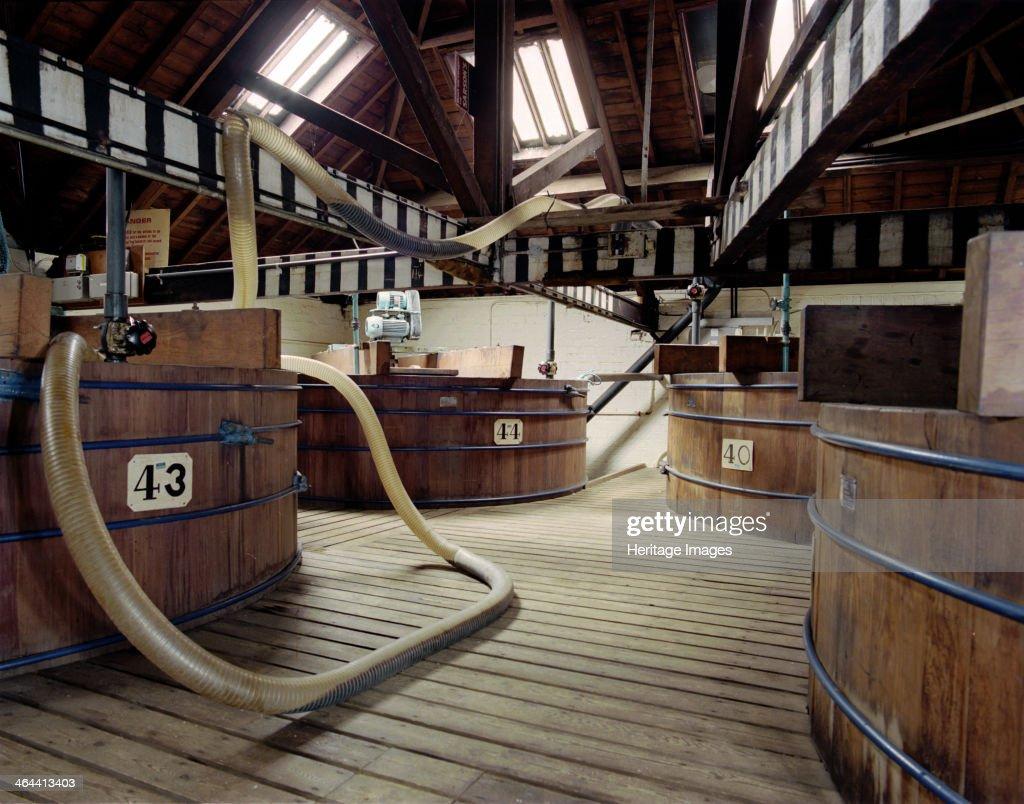 Vats at Sarsons Vinegar Factory, Stourport, Worcestershire, 2000. Artist: JO Davies : News Photo