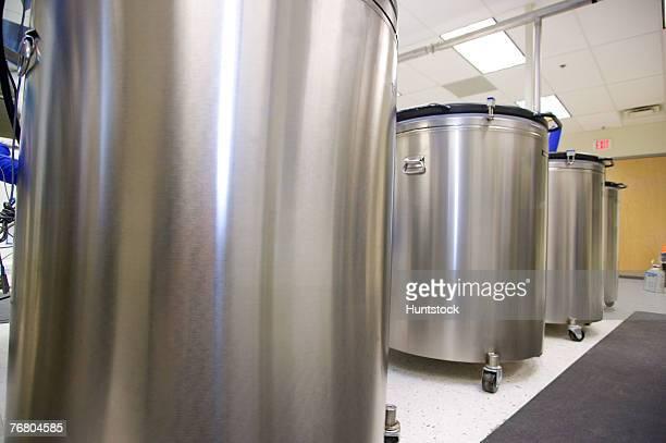 Vats in laboratory