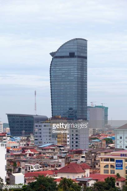 vattanac capital tower in phnom penh - gwengoat stock pictures, royalty-free photos & images
