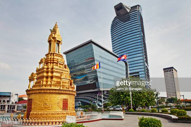 vattanic capital tower , phnom penh - phnom penh stock pictures, royalty-free photos & images