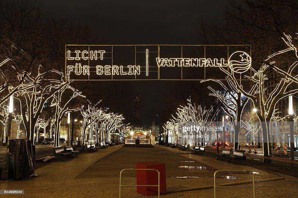 Unter Den Linden Weihnachtsbeleuchtung.Vattenfall Werbung Für Weihnachtsbeleuchtung In Berlin Unter Den