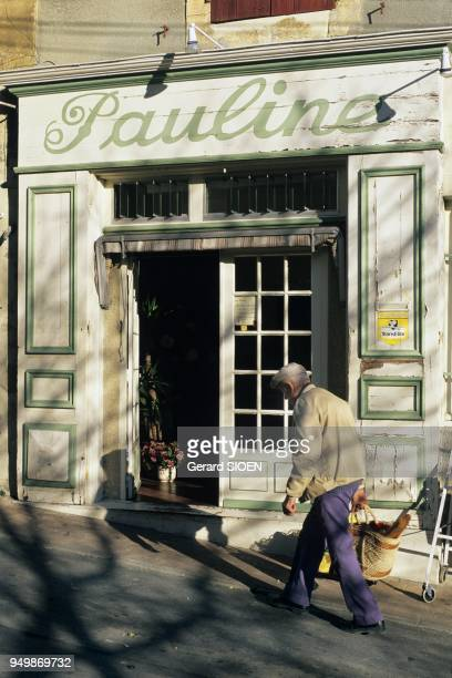 Vaucluse Cadenet in the regional natural park of Luberon the frontage of an old shop Provence France