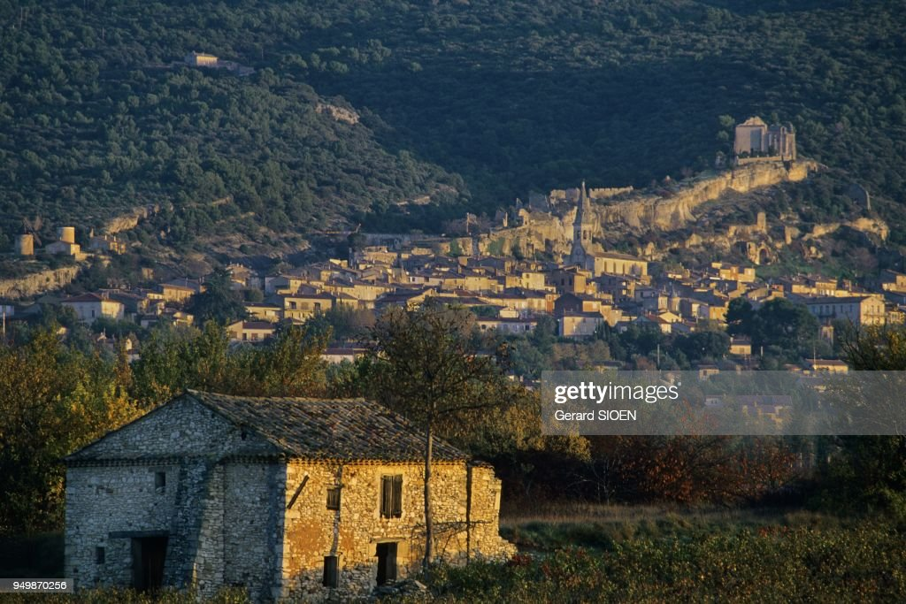 Vaucluse Plateau Saint Saturnin Les Apt In The Regional Natural Park Of  Luberon The Village Dominated
