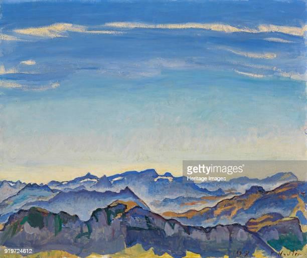 Vaud Alps seen from the Rochers de Naye 1917 Found in the Collection of Stiftung für Kunst Kultur und Geschichte Winterthur
